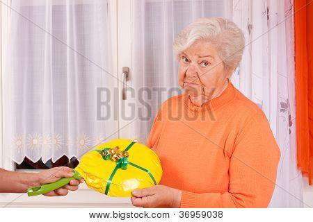 Female Senior Gets An Dumb Gift