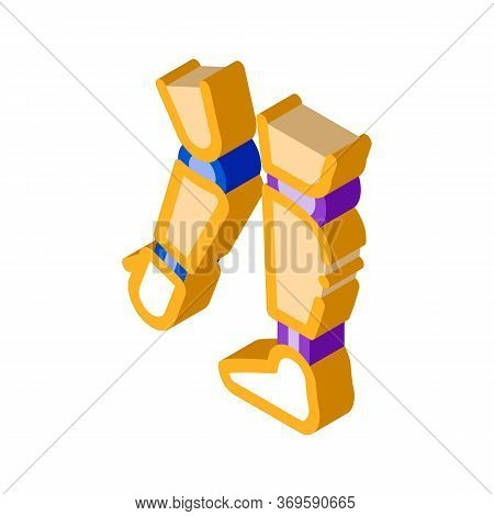 Prosthetics Of Arms And Leg Orthopedic Vector Isometric Sign. Color Isolated Symbol Illustration