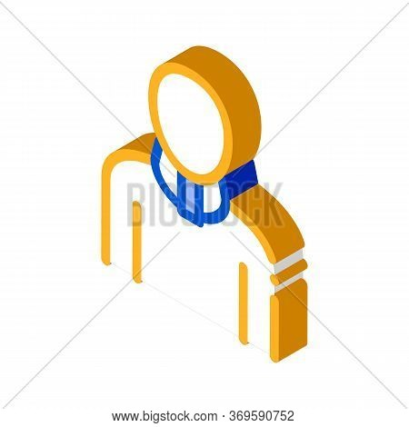 Orthopedic Cervical Collar For Neck Support Vector Isometric Sign. Color Isolated Symbol Illustratio