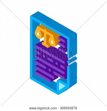 Judicial Document Law And Judgement Icon Vector Isometric Sign. Color Isolated Symbol Illustration