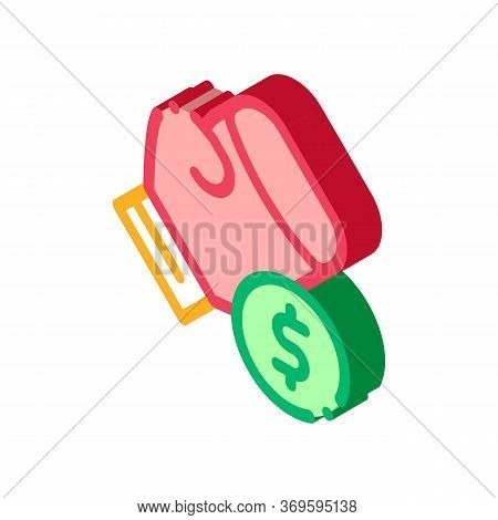 Boxing Hand Sign Betting And Gambling Icon Vector Isometric Sign. Color Isolated Symbol Illustration