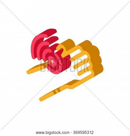 Hand Ache Icon Vector. Isometric Hand Ache Sign. Color Isolated Symbol Illustration