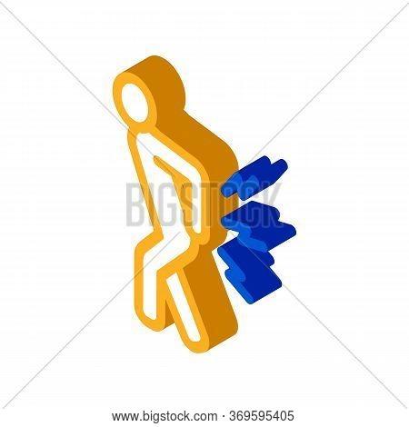 Arthritis Icon Vector. Isometric Arthritis Sign. Color Isolated Symbol Illustration