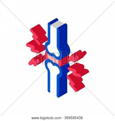 Joint Pain Icon Vector. Isometric Joint Pain Sign. Color Isolated Symbol Illustration