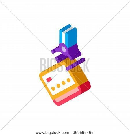 Credit Card Theft Icon Vector. Isometric Credit Card Theft Sign. Color Isolated Symbol Illustration
