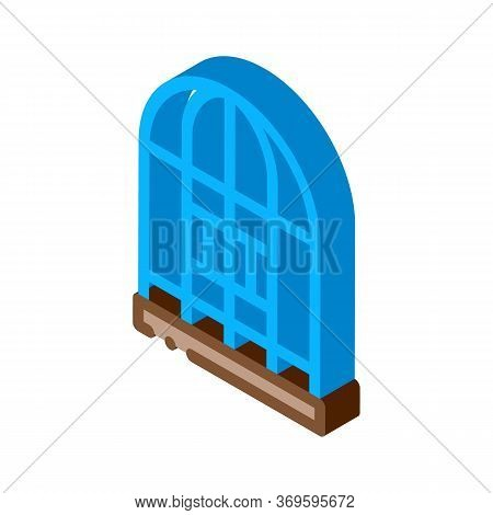 Parrot Cage Icon Vector. Isometric Parrot Cage Sign. Color Isolated Symbol Illustration