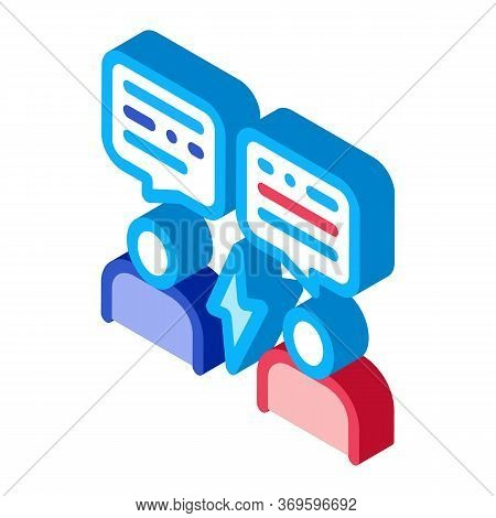 Voting Debate Icon Vector. Isometric Voting Debate Sign. Color Isolated Symbol Illustration