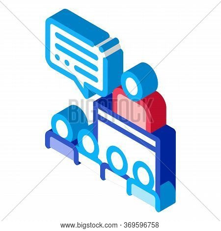 Candidate Speech Icon Vector. Isometric Candidate Speech Sign. Color Isolated Symbol Illustration