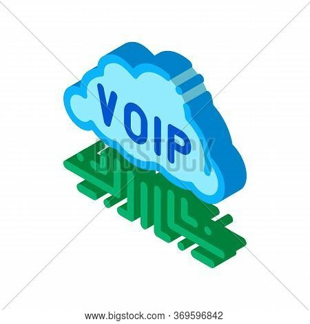 Voip Technology Icon Vector. Isometric Voip Technology Sign. Color Isolated Symbol Illustration