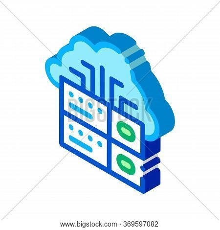 Voip Cloud Digital System Icon Vector. Isometric Voip Digital System Sign. Color Isolated Symbol Ill