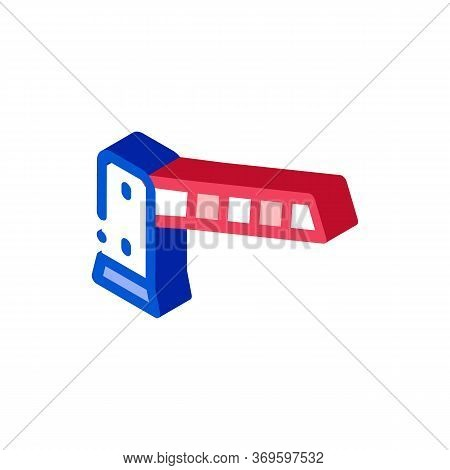 Parking Barrier Icon Vector. Isometric Parking Barrier Sign. Color Isolated Symbol Illustration