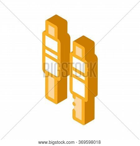Bails Icon Vector. Isometric Bails Sign. Color Isolated Symbol Illustration