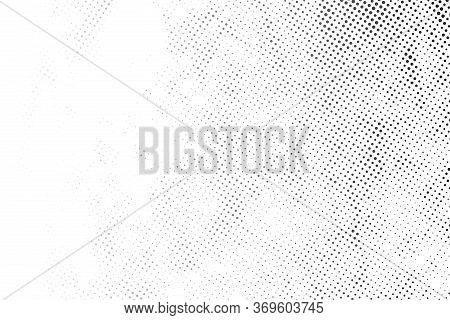 Half Tone Pop Art Dot Artistic Overlay Element. Distress Grunge Black And White Halftone Overlay Tex
