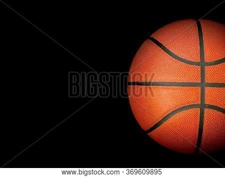 Basketball Association Basket Ball Against Black Background