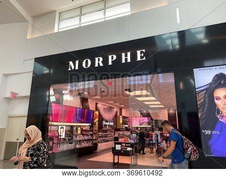Orlando,fl/usa-2/17/20: The Cosmetics Store Morphe Storefront At The Millenia Mall In Orlando, Flori