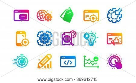 Website Stats, Target And Increase Sales Signs. Seo Icons. Traffic Management, Social Network And Se