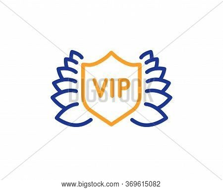 Vip Security Line Icon. Very Important Person Protection Sign. Member Club Privilege Symbol. Colorfu