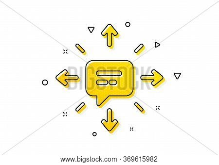 Chat Messages Or Sms Sign. Conversation Icon. Communication Symbol. Yellow Circles Pattern. Classic