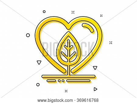 Organic Tested Sign. Local Grown Icon. Fair Trade Symbol. Yellow Circles Pattern. Classic Local Grow