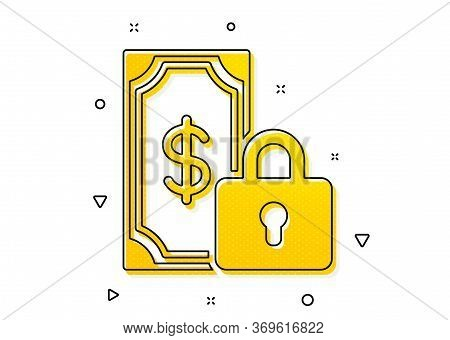 Dollar Sign. Private Payment Icon. Finance Symbol. Yellow Circles Pattern. Classic Private Payment I