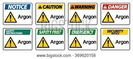 Argon Symbol Sign Isolate On White Background,vector Illustration Eps.10