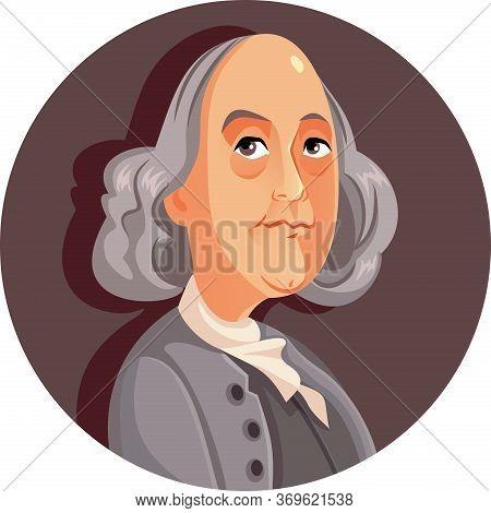 Benjamin Franklin Vector Cartoon Caricature Illustration Portrait