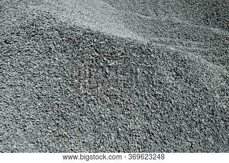 A Pile Of Gravel. Gravel Texture Or Gravel Background.
