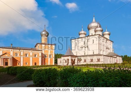 Transfiguration Cathedral And Church Of St Varlaam Of Hutyn. Khutyn Convent Of Saviours Transfigurat