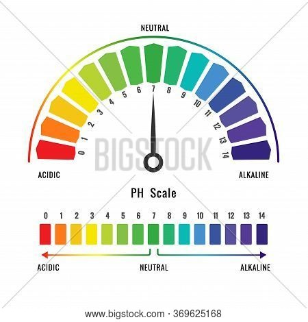 Vector Illustration Of Ph Scale For Measuring The Acidity Or Alkylity Of The Solution. Universal Ind