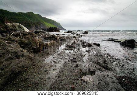 Scenic Rocky Shoreline Seascape - Gros Morne National Park, Newfoundland, Canada