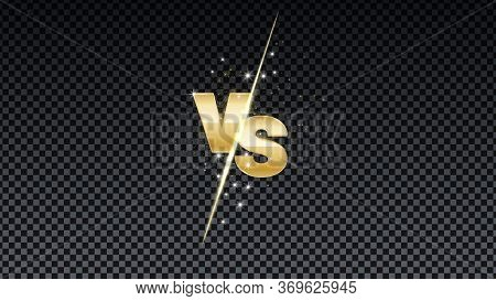 Versus Gold Fire Battle. Mma Concept - Fight Night, Mma, Boxing, Wrestling, Thai Boxing. Vs Of Metal