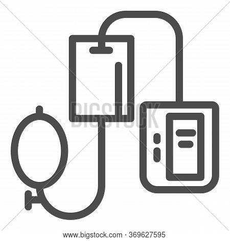 Electronic Tonometer Line Icon, Heath Care Concept, Arterial Blood Pressure Checking Device Sign On