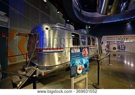 Kennedy Space Center, Merritt Island, Florida - May 30, 2020 - Nasa Astrovan On Display At Shuttle A