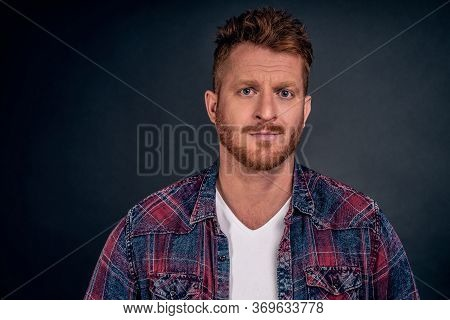 You Talking Bullshit, Doubt Can Trust You. Unsure Displeased Redhead Mature Male Entrepreneur Lookin