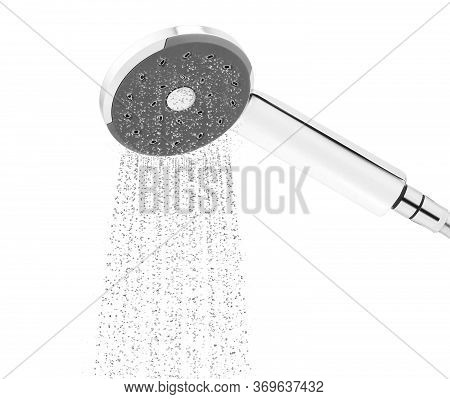 Metalic Shower Isolated On A White Background