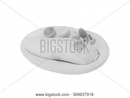 White Pumice Isolated On A White Background