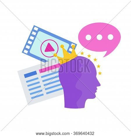 Blogging Icon. Content Marketing. Advertising Campaign Planning. Promotion Management. Attractive Si