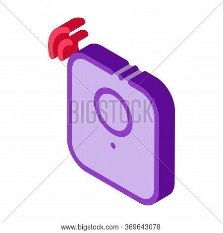 Alarm Signal Sensor Icon Vector. Isometric Alarm Signal Sensor Sign. Color Isolated Symbol Illustrat
