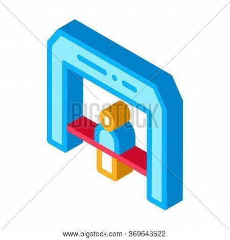 Finish Tape Person Crosses Finish Line Icon Vector. Isometric Finish Tape Person Crosses Finish Line