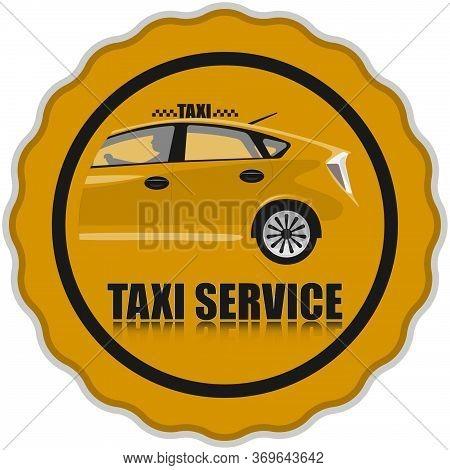 Orange Taxi Service Icon. Taxi Icon.taxi Illustration