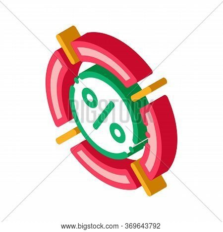 Interest Target Concept Icon Vector. Isometric Interest Target Concept Sign. Color Isolated Symbol I