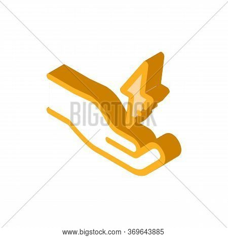Strong Person Energy Icon Vector. Isometric Strong Person Energy Sign. Color Isolated Symbol Illustr