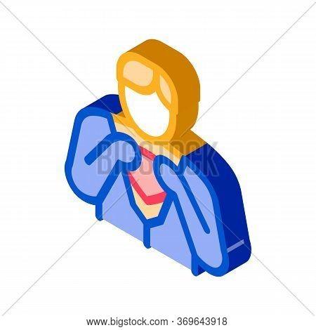 Super Hero Readiness Icon Vector. Isometric Super Hero Readiness Sign. Color Isolated Symbol Illustr