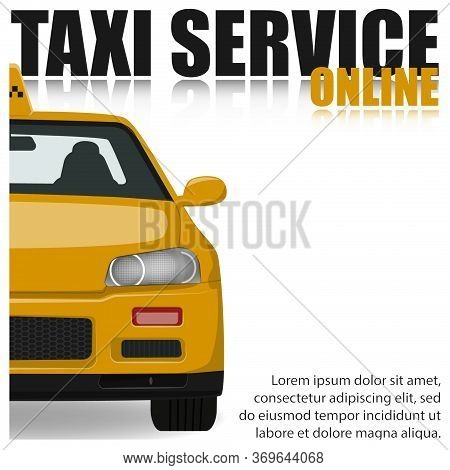 Online Taxi Service Poster Concept.online Taxi Illustration