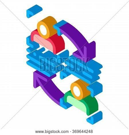 Personality Information Comparison Icon Vector. Isometric Personality Information Comparison Sign. C