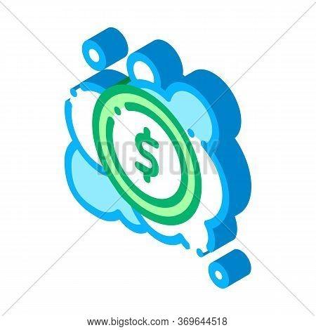 Laundered Cash Money Icon Vector. Isometric Laundered Cash Money Sign. Color Isolated Symbol Illustr