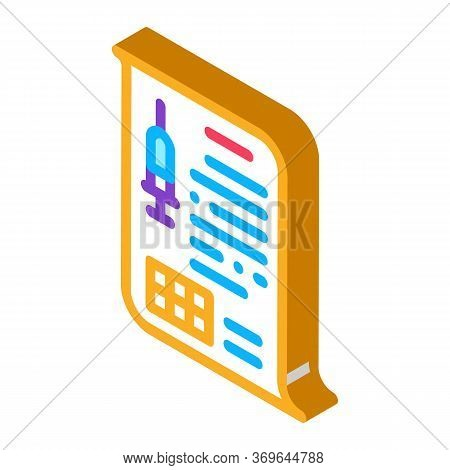 Physician Injection Appointments Icon Vector. Isometric Physician Injection Appointments Sign. Color