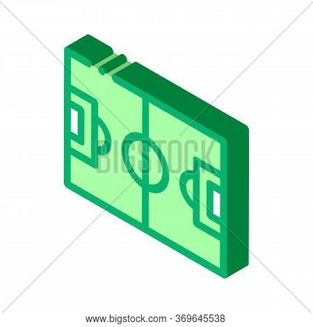 Football Field Icon Vector. Isometric Football Field Sign. Color Isolated Symbol Illustration