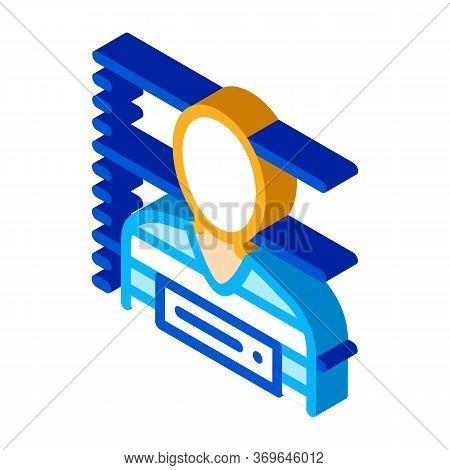 Criminal Bandit Photo Icon Vector. Isometric Criminal Bandit Photo Sign. Color Isolated Symbol Illus