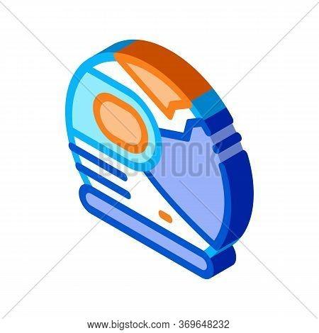 Spaceman Helmet Mask Icon Vector. Isometric Spaceman Helmet Mask Sign. Color Isolated Symbol Illustr